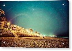 Acrylic Print featuring the photograph Starry Starry Pacific Beach by T Brian Jones