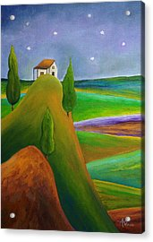 Starry Summer Night Acrylic Print