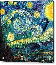 Starry Tardis Art Painting Acrylic Print