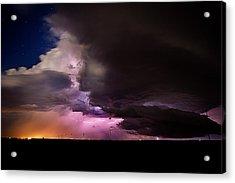 Starry Thunder Acrylic Print