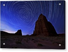 Stars Above The Moon Acrylic Print by Chad Dutson