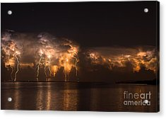 Stars And Bolts Acrylic Print by Quinn Sedam