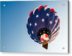 Stars And Stripes Above Acrylic Print by Todd Klassy