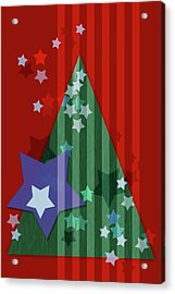 Stars And Stripes - Christmas Edition Acrylic Print