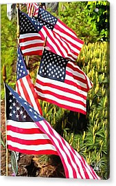 Stars And Stripes Acrylic Print by Janine Riley