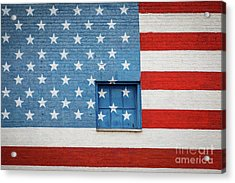 Stars And Stripes Wall Acrylic Print by Inge Johnsson