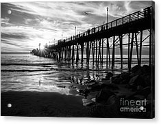Stars And Swirls In Oceanside Acrylic Print