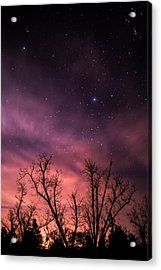 Stars At Sunset Acrylic Print by Shelby  Young