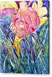 Stars In Eyes Flowers In Hand Acrylic Print