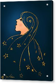 Stars In Her Hair Acrylic Print