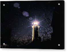 Stars Over Nobska Lighthouse Acrylic Print