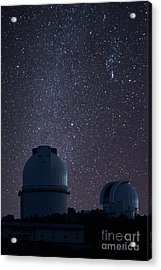 Stars Over Telecope Dome Acrylic Print by Tod and Cynthia Grubbs