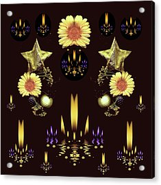 Stars Over The Sacred Sea Of Candles Acrylic Print by Pepita Selles