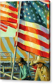 Stars, Stripes, And Cowboys Forever Acrylic Print