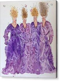 Starstruck Divas Acrylic Print by Marilyn Jacobson