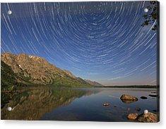 Startrails Over Jenny Lake Acrylic Print