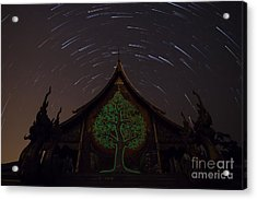 Startrails Acrylic Print by Tosporn Preede