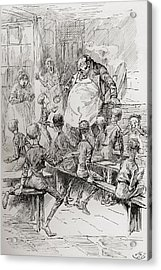 Starvation In The Workhouse. Please Acrylic Print
