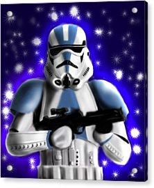 Starwars. Stormtrooper Acrylic Print by Sandra Geis