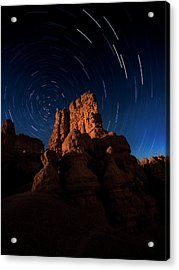 Acrylic Print featuring the photograph Stary Trails At Red Canyon by Edgars Erglis
