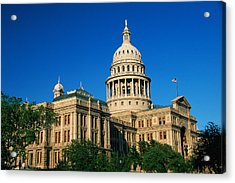State Capitol Building Austin Tx Acrylic Print by Panoramic Images