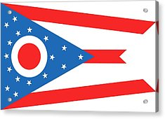 State Flag Of Ohio Acrylic Print by American School