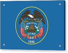 State Flag Of Utah Acrylic Print by American School