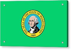 State Flag Of Washington Acrylic Print by American School