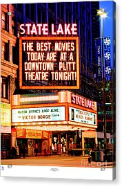 State-lake Theater Acrylic Print