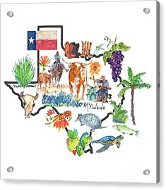 State Of Texas As I Know It Acrylic Print