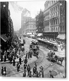 State Street - Chicago Illinois - C 1893 Acrylic Print by International  Images