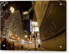 State Street Night Scene Acrylic Print