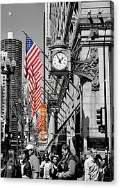 Acrylic Print featuring the photograph State Street Scene - 1 by Sheryl Thomas