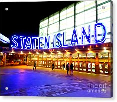 Staten Island Ferry Acrylic Print