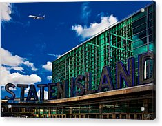 Staten Island Ferry Terminal Acrylic Print by Chris Lord
