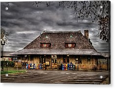 Station - Westfield Nj - The Train Station Acrylic Print by Mike Savad