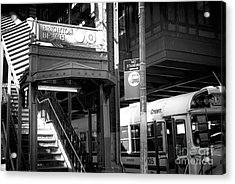 Station Lights Acrylic Print by John Rizzuto