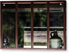 Acrylic Print featuring the photograph Station Window by Brad Allen Fine Art