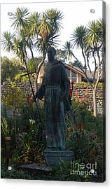 Statue At Mission Carmel Acrylic Print