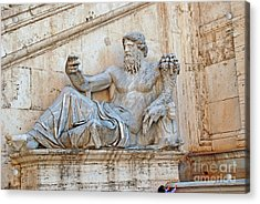 Statue Capitoline Hill Of Rome Italy Acrylic Print