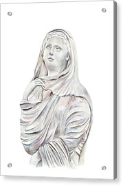 Acrylic Print featuring the painting Statue by Elizabeth Lock