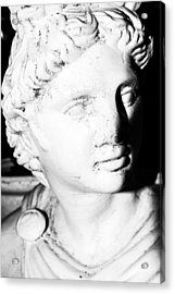 Statue In Black And White Acrylic Print by Tommytechno Sweden