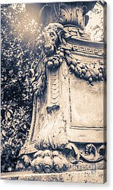 Statue In Bryant Park Nyc Acrylic Print by Edward Fielding