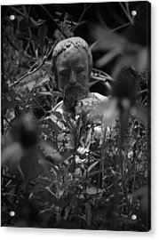 Statue In Flowers Acrylic Print by Megan Verzoni