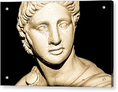 Statue In Sepia Acrylic Print by Tommytechno Sweden