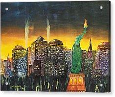 Statue Liberty Acrylic Print