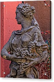 Statue Lower Manhattan Acrylic Print by Robert Ullmann