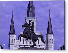 Statue Of Andrew Jackson Acrylic Print by Garry Gay