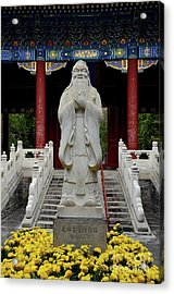 Statue Of Chinese Philosopher Confucius Beijing China Acrylic Print by Imran Ahmed