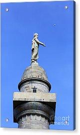 Statue Of George Washington On Washington Monument Baltimore Acrylic Print